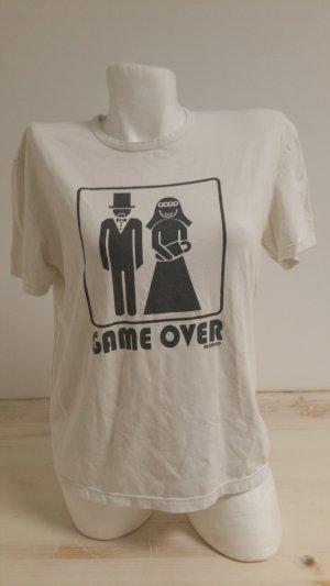 Risskio Camiseta estampada blanco-negro