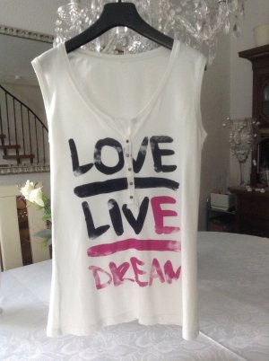 Shirt / weiß-bunt / Gr. 36 S