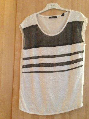 Shirt weiß mit grauen Streifen von Esprit