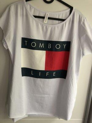 Shirt weiß mit Print