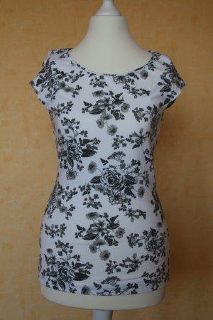 Shirt: weiß-schwarz