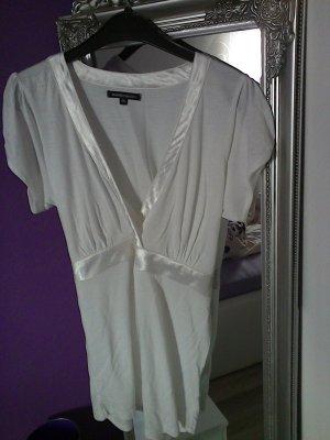 Shirt weiss von 3suisses Gr. 38 mit Satinbindeband