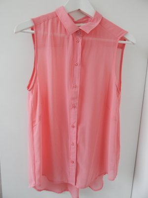 Shirt-Weste von H&M in himbeer-pink