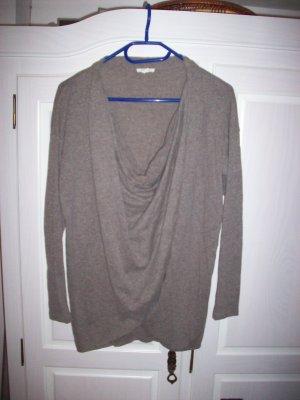 Shirt Wickeloptik von Esprit Gr.38 Farbe Taupe