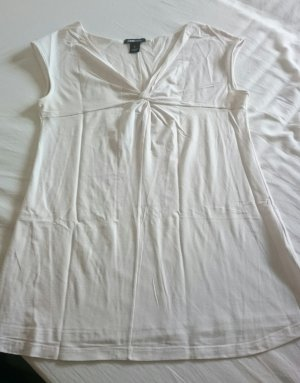 H&M Empire Waist Shirt nude-white