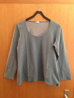 Camiseta estampada blanco puro-gris pizarra