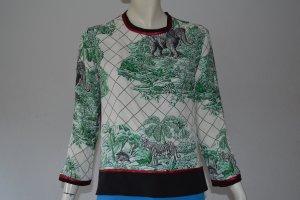 Shirtaporter Bluse schwarz/bunt Größe 36