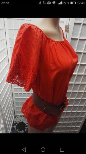 More & More Blusa alla Carmen multicolore Cotone