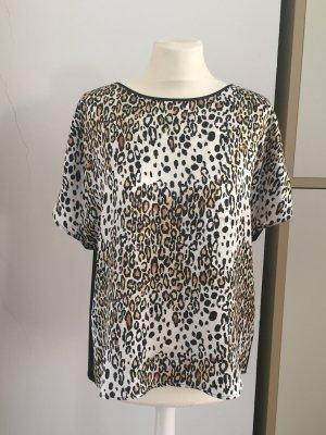 Shirtbluse, Leopard, Seide, Gr. 38