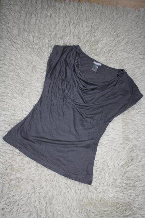 Shirtbluse mit Wasserfallausschnitt