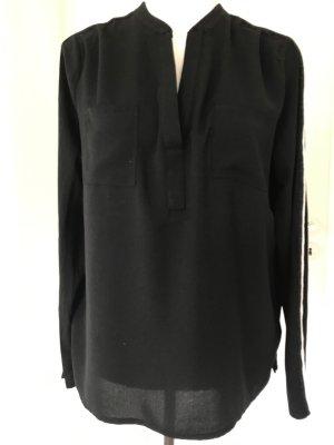Shirtbluse Monari, schwarz-silber, Gr. 40