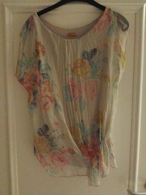 Shirtbluse transparent mit einem Topeinsatz