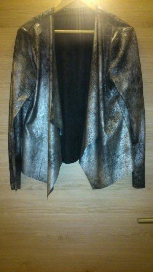 Veste courte noir-argenté