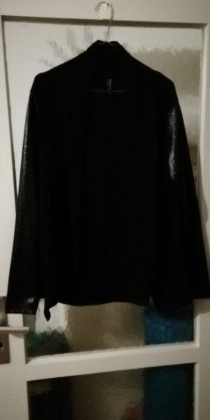 Giacca-camicia nero Fibra sintetica