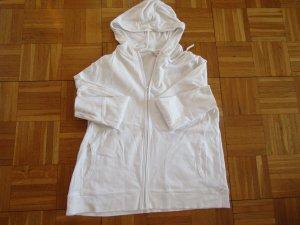 Sheego Shirt Jacket white cotton