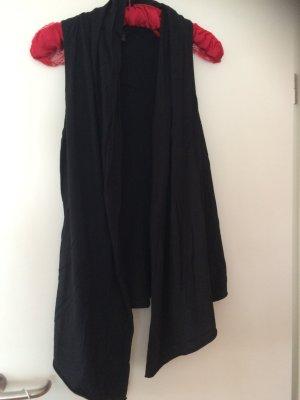 Shirtjacke lang in Schwarz