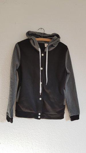 Veste chemise noir-gris