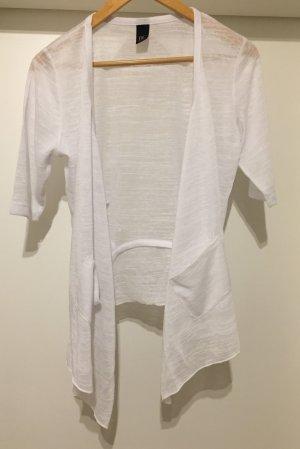 Shirtjacke Überzieher Cardigan *Gr. 36* Weiß *BC* NEU