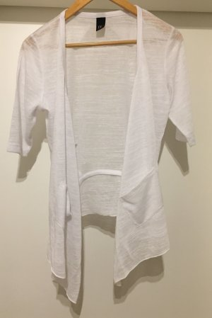 Shirtjacke Überzieher Cardigan *Gr. 46* Weiß *BC* NEU