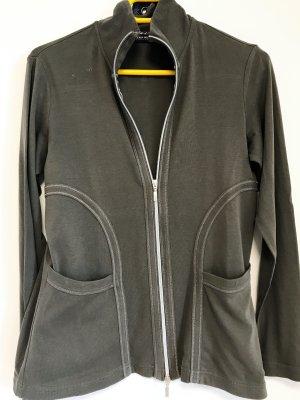 Gerry Weber Veste chemise gris vert coton