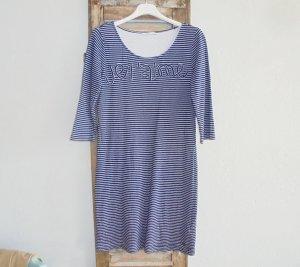 edc Vestido estilo camisa blanco-azul oscuro