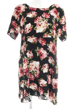 T-shirt jurk bloemenprint Beach-look