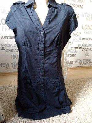 #Shirtkleid, #Blusenkleid dunkelblau