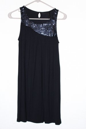 Shirtkleid dunkelblau mit Pailletten