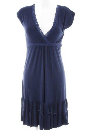 Robe t-shirt bleu foncé style simple