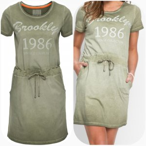 Shirtkleid im Used Look Gr.44/46