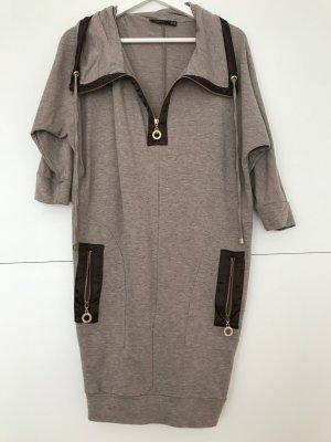 Robe t-shirt brun noir-gris brun