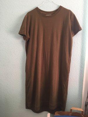 Pull & Bear T-shirt jurk khaki-groen-grijs