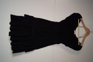 Shirtkleid, Kleid, spanisches Kleid im Carmenstil, schulterfrei U-Bootausschnitt