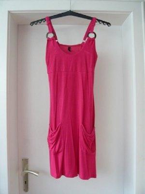 Shirtkleid, Marke: H.I.S., Gr. 34, Spaghettitraeger, pink, neuwertig
