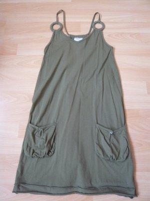 Shirtkleid, Marke: heine, Gr. 34, Spaghettiträger, khaki, neuwertig