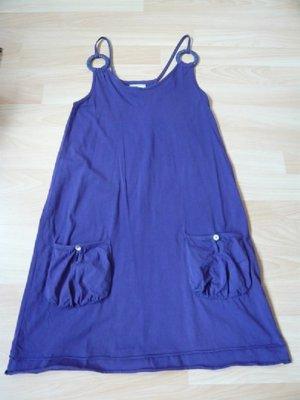 Shirtkleid, Marke: heine, Gr. 34, Spaghettiträger, lila, neuwertig