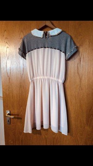 Relish Vestido estilo camisa rosa-gris claro