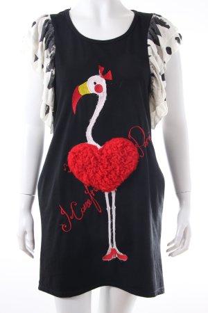 Shirtkleid mit Flamingo
