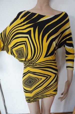 ShirtKleid mit Raglan Ärmel Asymertisch im Schnitt 36/ 38