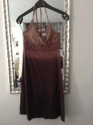 Shirtkleid mit Spitzenoberteil / braun mit Farbverlauf / Gr. Uni / Blendshe