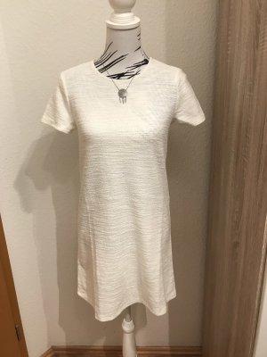 Stradivarius Vestido estilo camisa blanco
