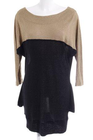 Vestido estilo camisa negro-color oro look casual