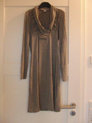 Shirtkleid von ASHLEY BROOKE, grau, Langarm, Gr. 34 (36)
