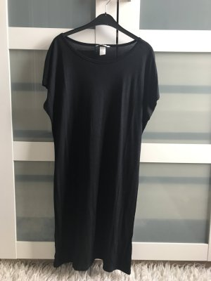 H&M Robe t-shirt noir viscose