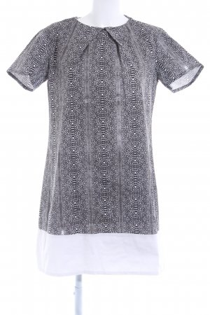 Robe t-shirt blanc-noir motif animal style safari