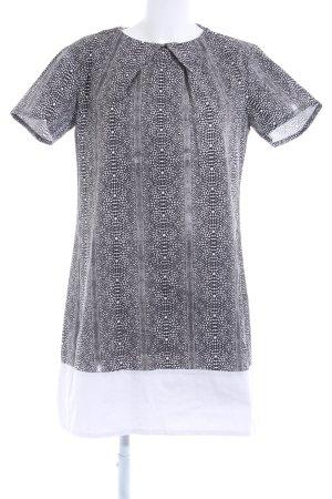 Shirt Dress white-black animal pattern safari look