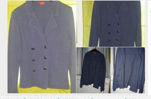 Shirtstoff Blazer graublau L