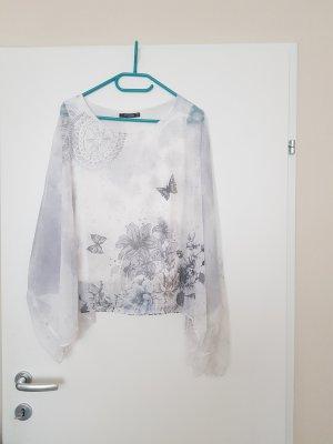 Colloseum Camisa tipo túnica blanco-color plata