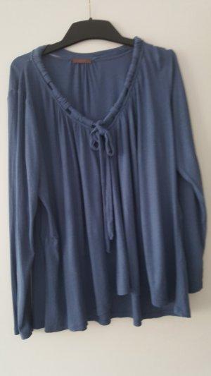 Wrap Camisa acanalada azul pálido