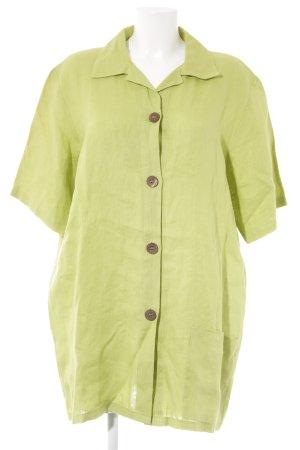 Camicia a tunica verde prato stile casual